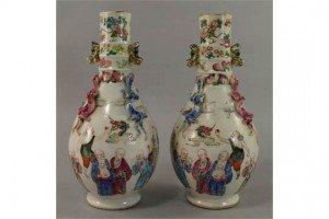 Chinese bottle vases,