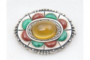 Crafts style brooch