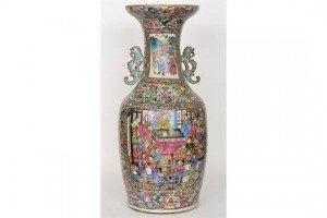 enamel floor vase