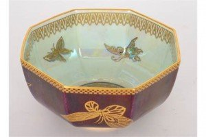 octagonal lustre bowl,