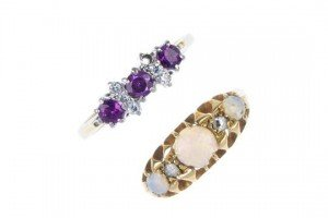 gem-set dress rings