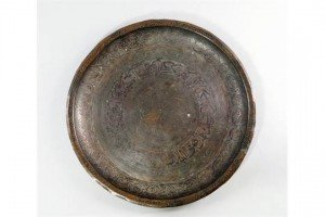 silvered copper tray