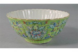 porcelain fluted bowl
