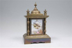 porcelain mantel clock