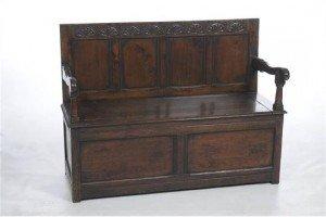 oak box seat