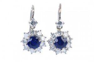 diamond cluster ear pendants
