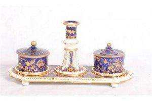 porcelain inkstand