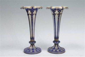 overlay glass vases