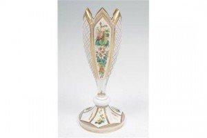 overlaid glass vase