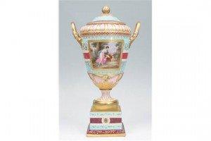Vienna two handled vase