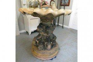 stone sectional bird bath