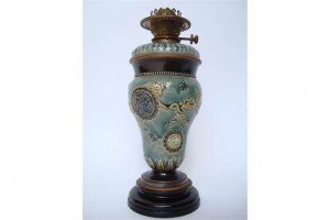 stoneware oil lamp