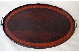 mahogany serving tray