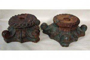 hardwood pedestals