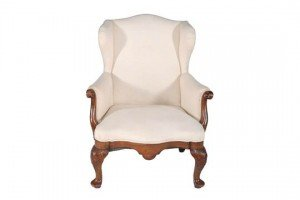 walnut wing armchair
