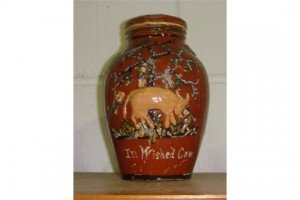 pottery milk jug