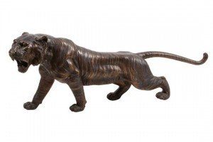 bronze model of tiger