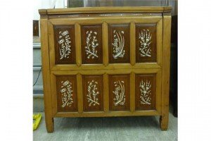 lacquered wooden chest