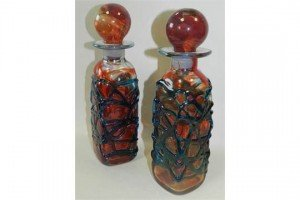 Mdina glass decanters
