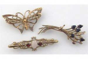 Various brooches