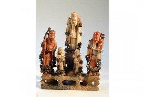 soapstone figure group