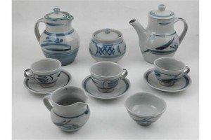 pottery tea service