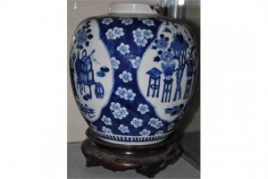 white ginger jar