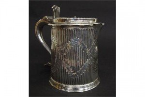 fluted lidded stein