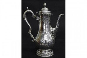 silver baluster coffee pot