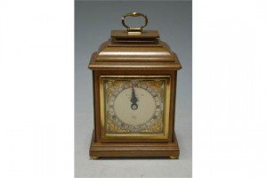 mahogany cased mantel clock