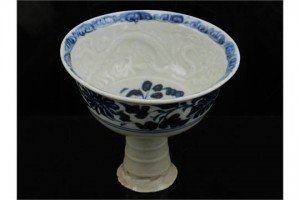porcelain stem cup
