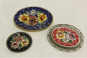 micro mosaic brooches