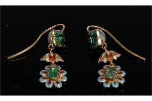 enamelled earring