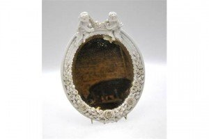 oval bevel glass wall mirror