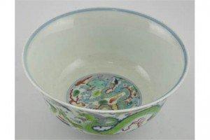 Chinese Doucai soup bowl,