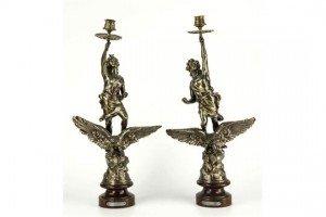 gilt metal candlesticks