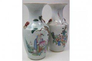 Chinese porcelain baluster vases