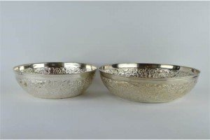 Indian silver bowls