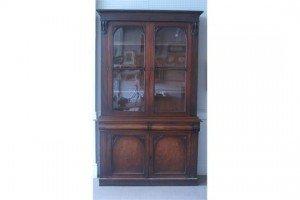 two door bookcase