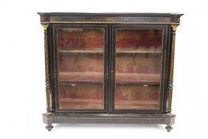 gilt metal mounted vitrine
