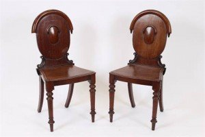 mahogany hall chairs