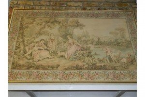 Aubusson style wall hanging