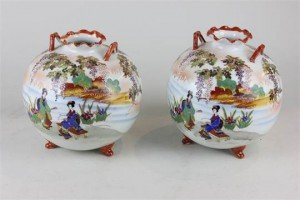 porcelain globular vases