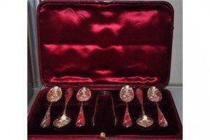 Victorian silver teaspoons