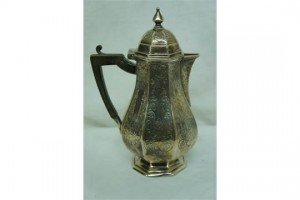 baluster shaped silver coffee pot