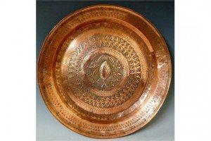 copper circular tray,