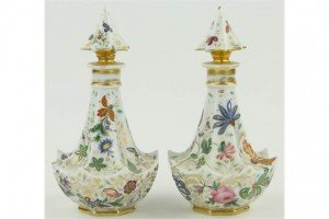 continental porcelain flasks