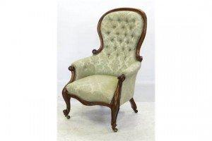 wood armchair