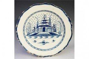 glazed pottery plate