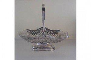 silver swing handle basket